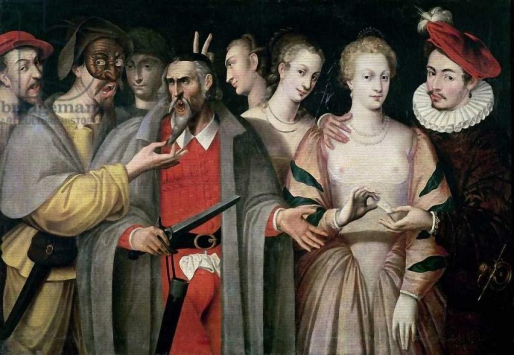 "Francois Bunel,""Actors of the Commedia dell'Arte"" (1580)"