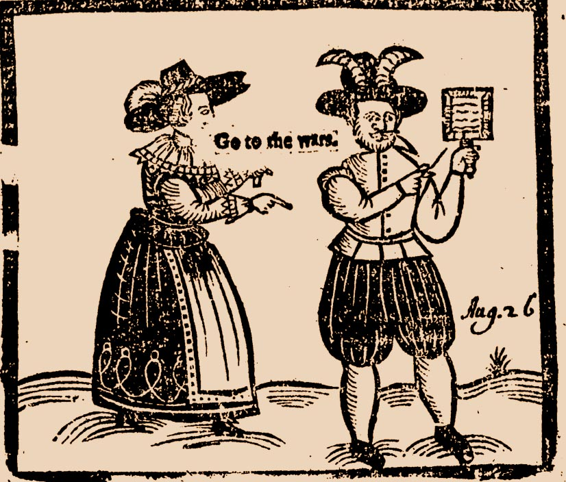 Illustration of cuckold from 17th-century satiric broadside.