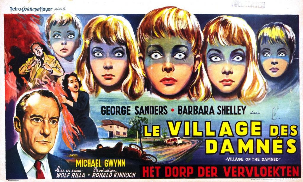 """Village of the Damned"" poster, based on ""The Midwich Cuckoos"""