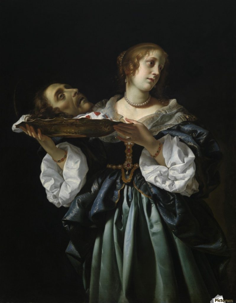 Salome with the Head of John the Baptist. Carlo Dolci, 1670.