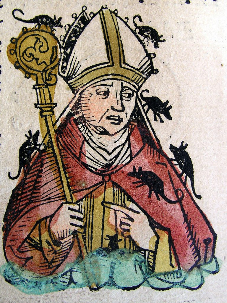 Bishop Hatto illustration from the Nuremberg Chronicle, 1493