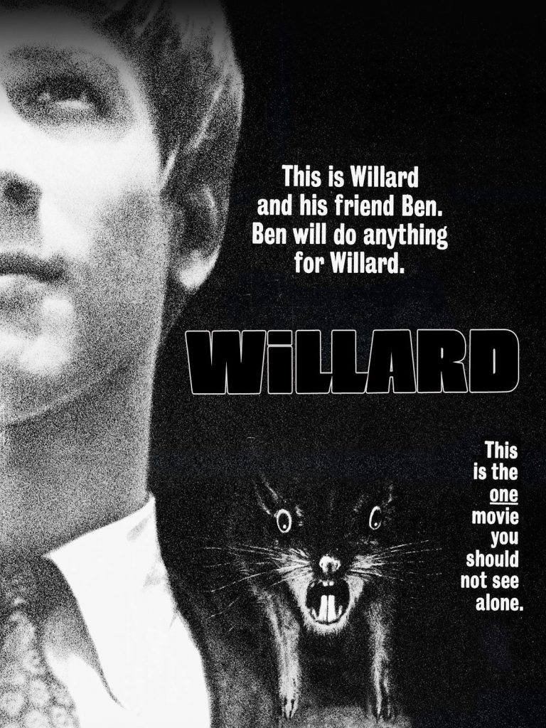 Movie poster for Willard, 1972