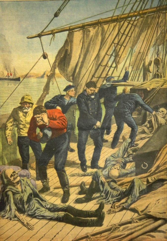 "Discovery of the ghost ship Marlborough"" 1913, from Supplément illustré du Petit Journal"