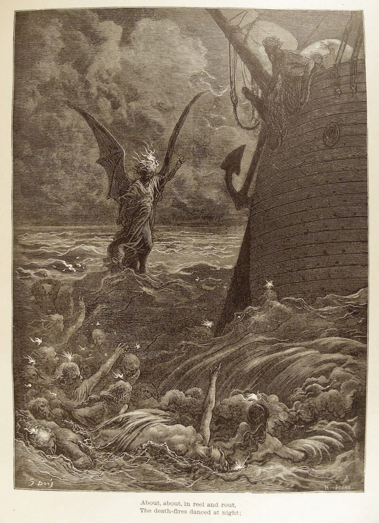 "Gustave Doré illustration for ""Rime of the Ancient Mariner"" (1876)"
