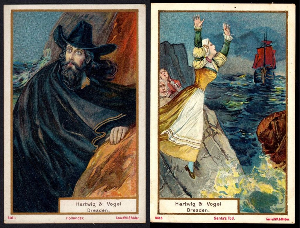 "Hartwig & Vogel's Chocolate trading cards, ""The Flying Dutchman"" (1906)"