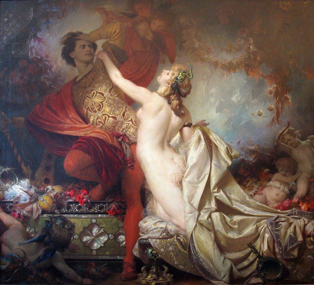 Tannhäuser und Venus, Otto Knille, 1873.