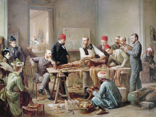 Examination of a Mummy by Paul Dominique Philippoteaux c 1891
