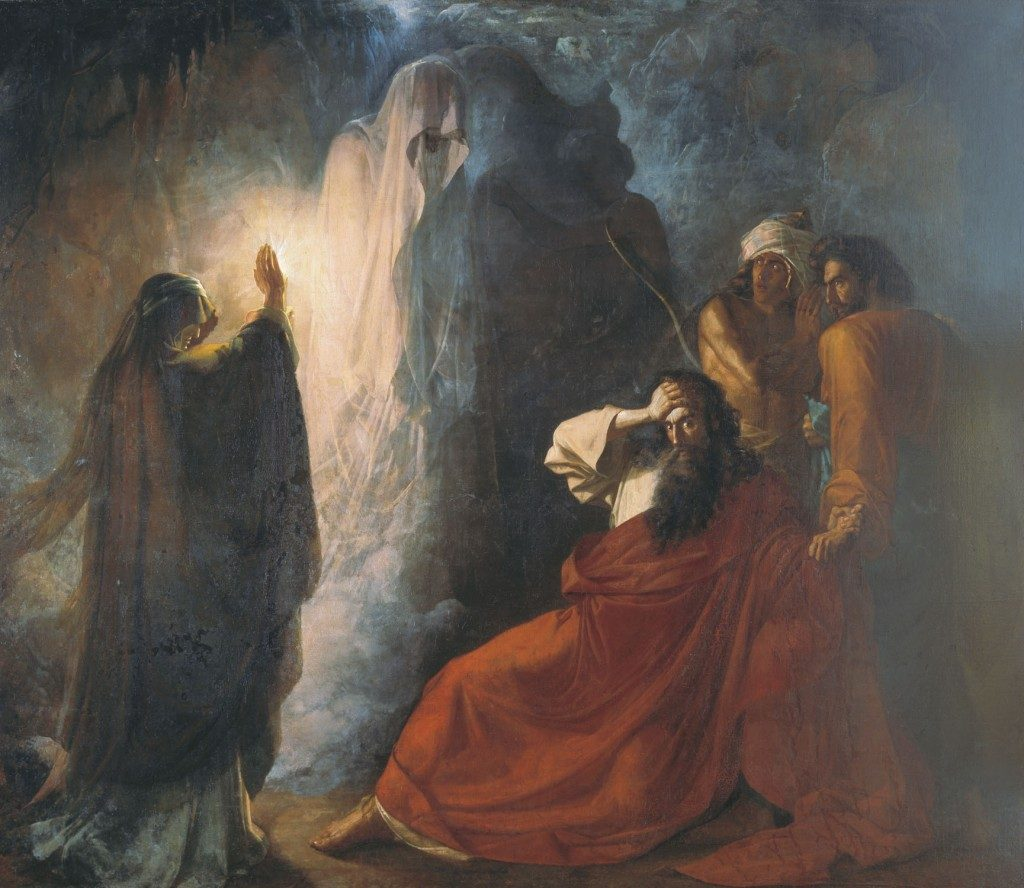 """The Shade of Samuel Invoked by Saul"" Nikiforovich Martynov (1857)"