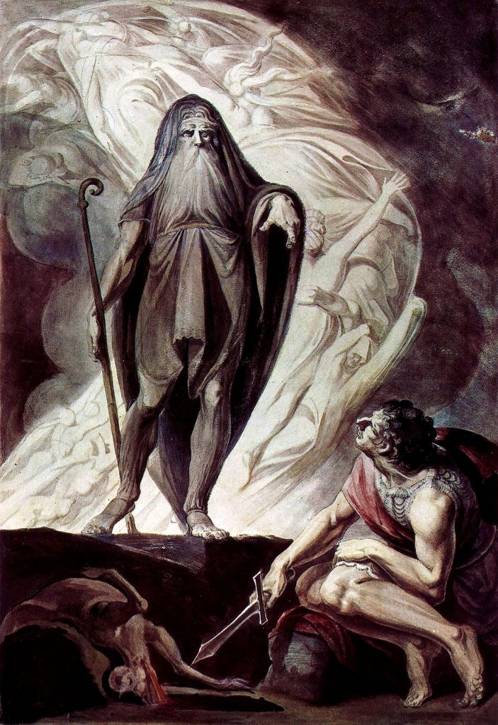 """Tiresias appears to Ulysses"" Johann Heinrich Füssli (1785)"