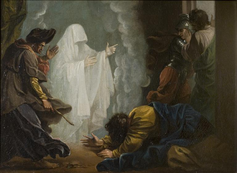 """""""Saul and the Witch of Endor"""" Benjamin West"""