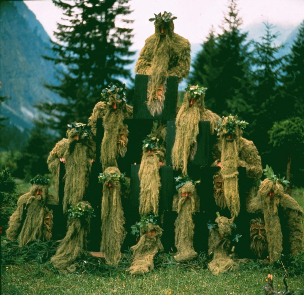 Wild Man dancers from Oberstdorf, Bavaria.