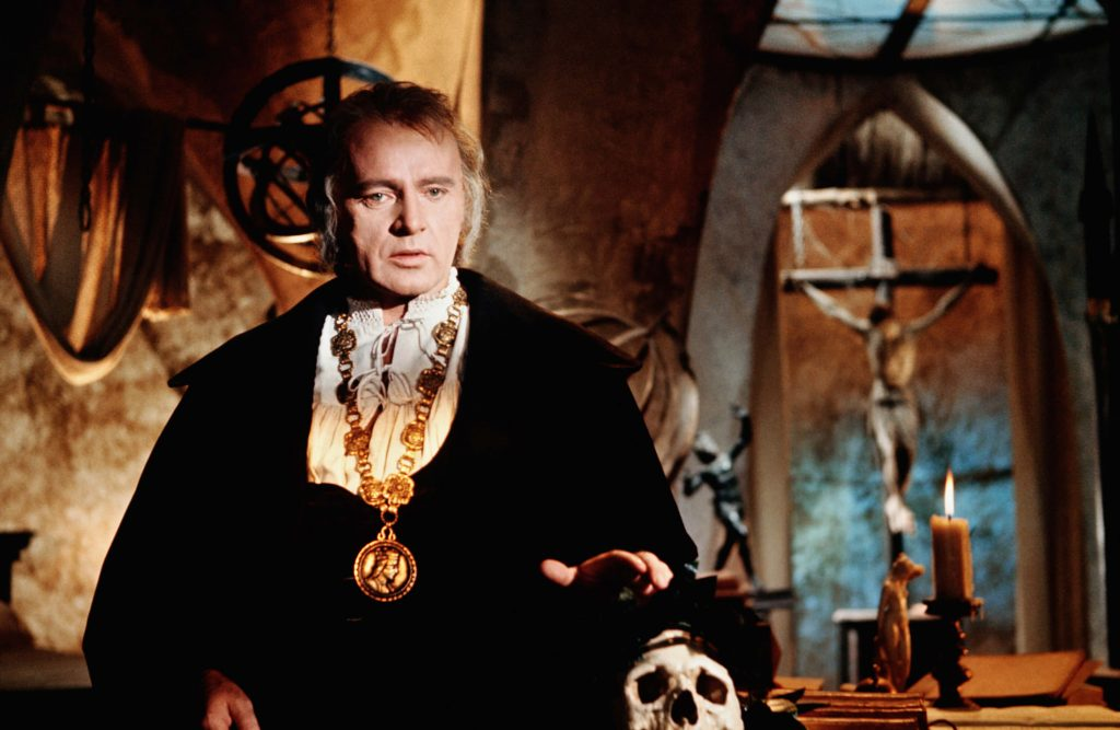 Richard Burton in his 1967 film, Doctor Faustus
