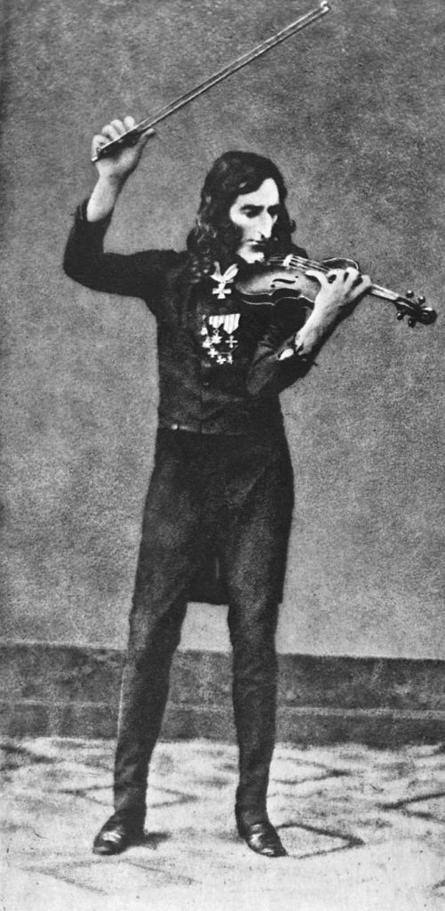 (Forged) daguerreotype of Paganini (1900)