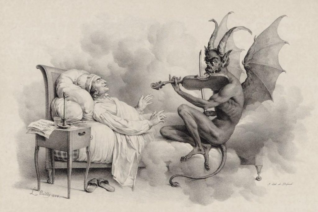 """Tartini's Dream,"" by Louis-Léopold Boilly (1824)"