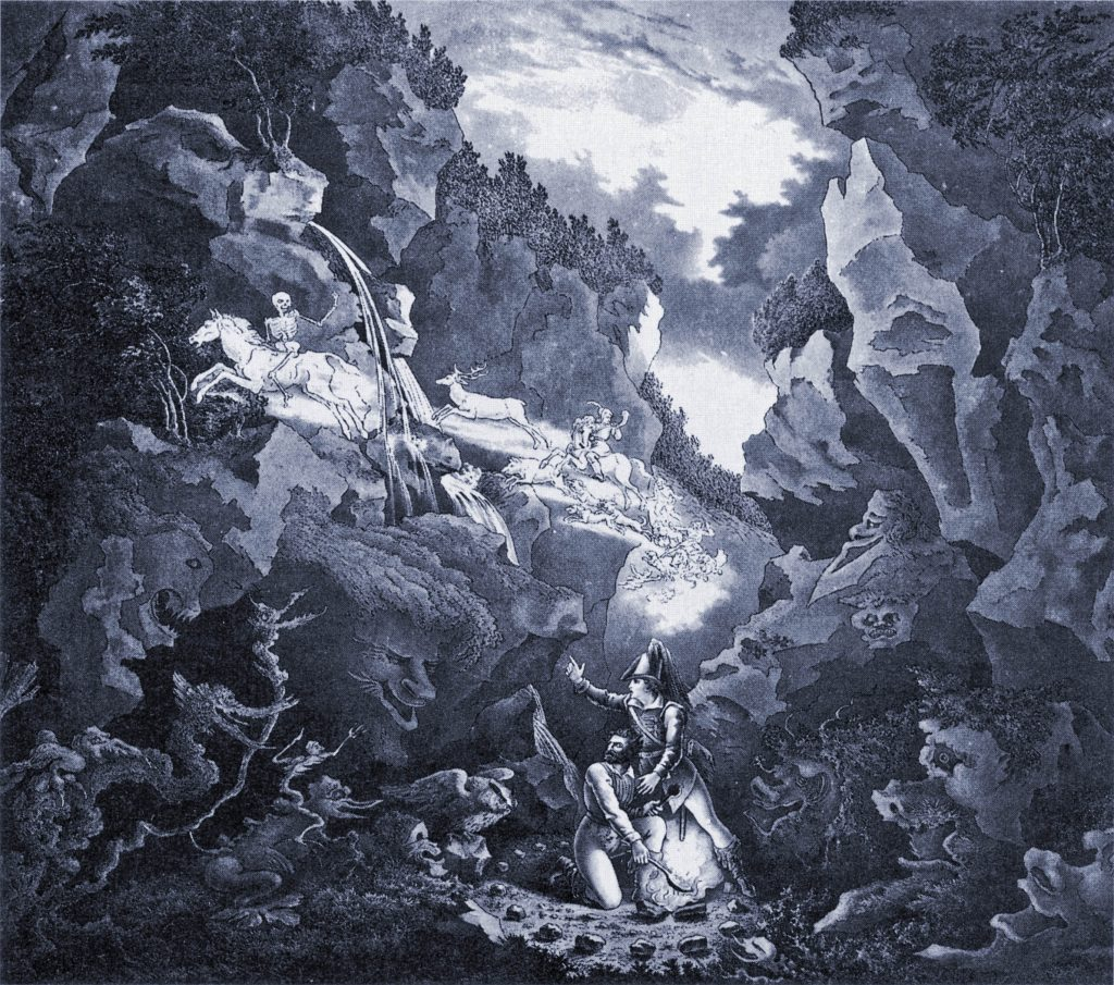 """Wolfs Glen"" set design for 1822 production of Der_Freischütz"
