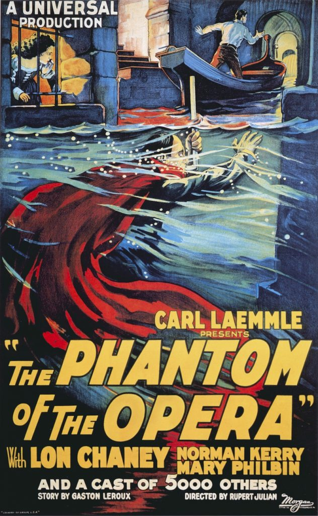 1925 Phantom poster showing underground lake