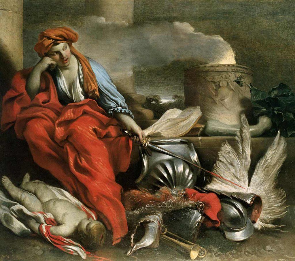 """""""Medea"""" by Giovanni Benedetto Castiglione, 17th century."""