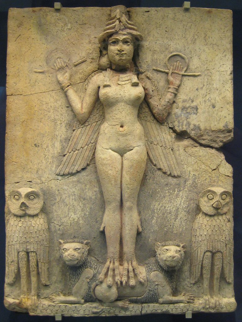 """Burney Relief"" formerly thought to represent Lilith."