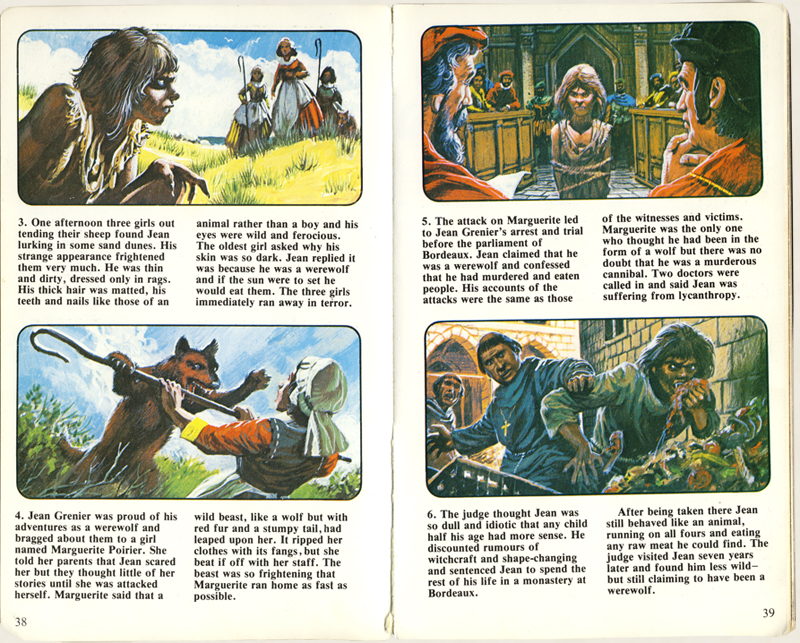 "Story of Jean Grenier from ""The Usborne Guide To The Supernatural World"" (1979)"