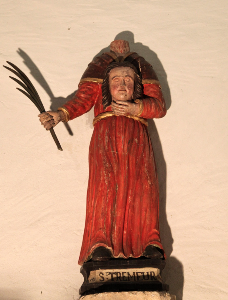 A revived St. Tryphine. Statue in chapel of St Trémeur, near Carhaix, Brittany