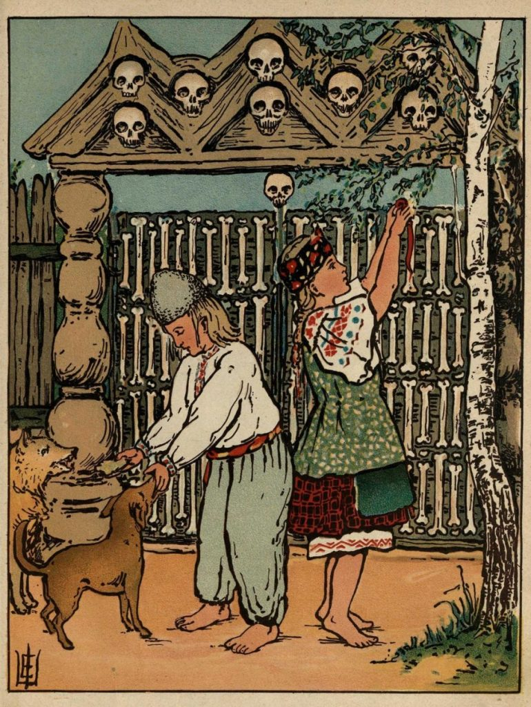 Child slaves of the witch and bone fence, illustration, 1916