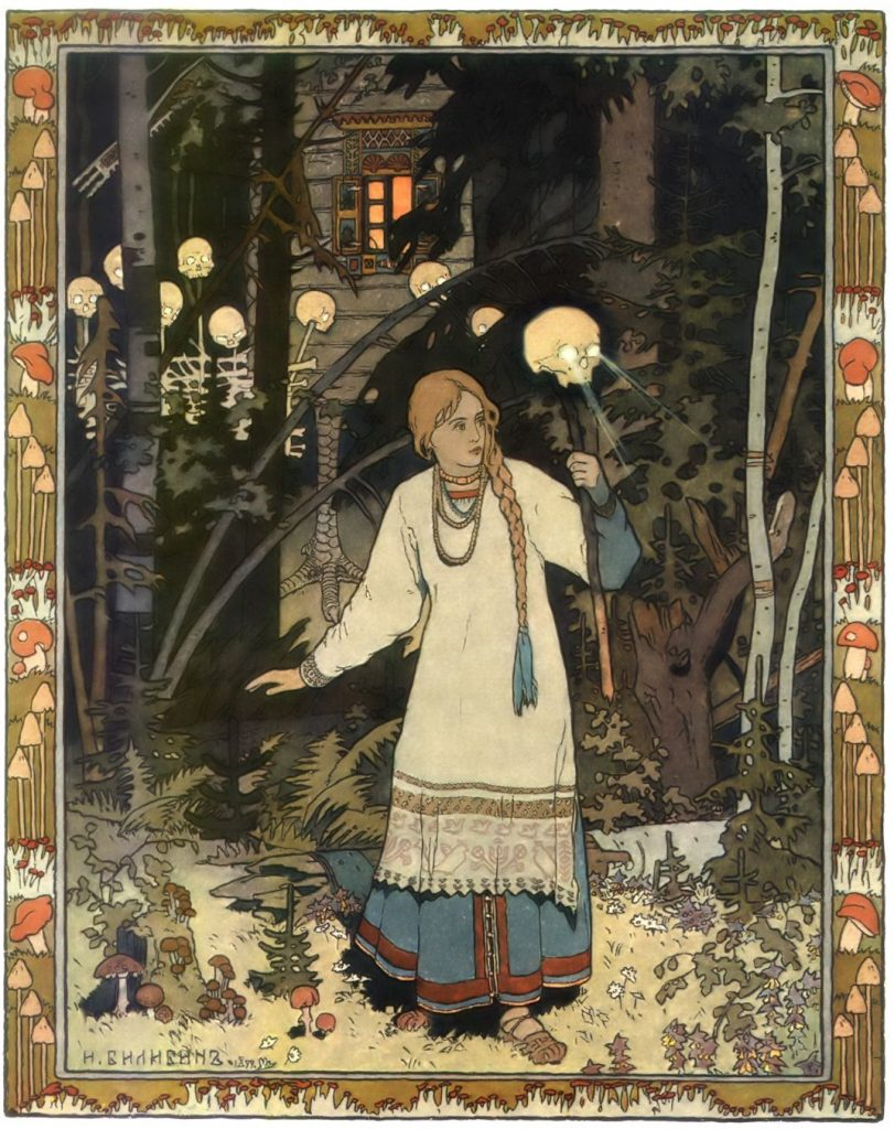 Vasilisa, illustration by Ivan Bilibin, 1899