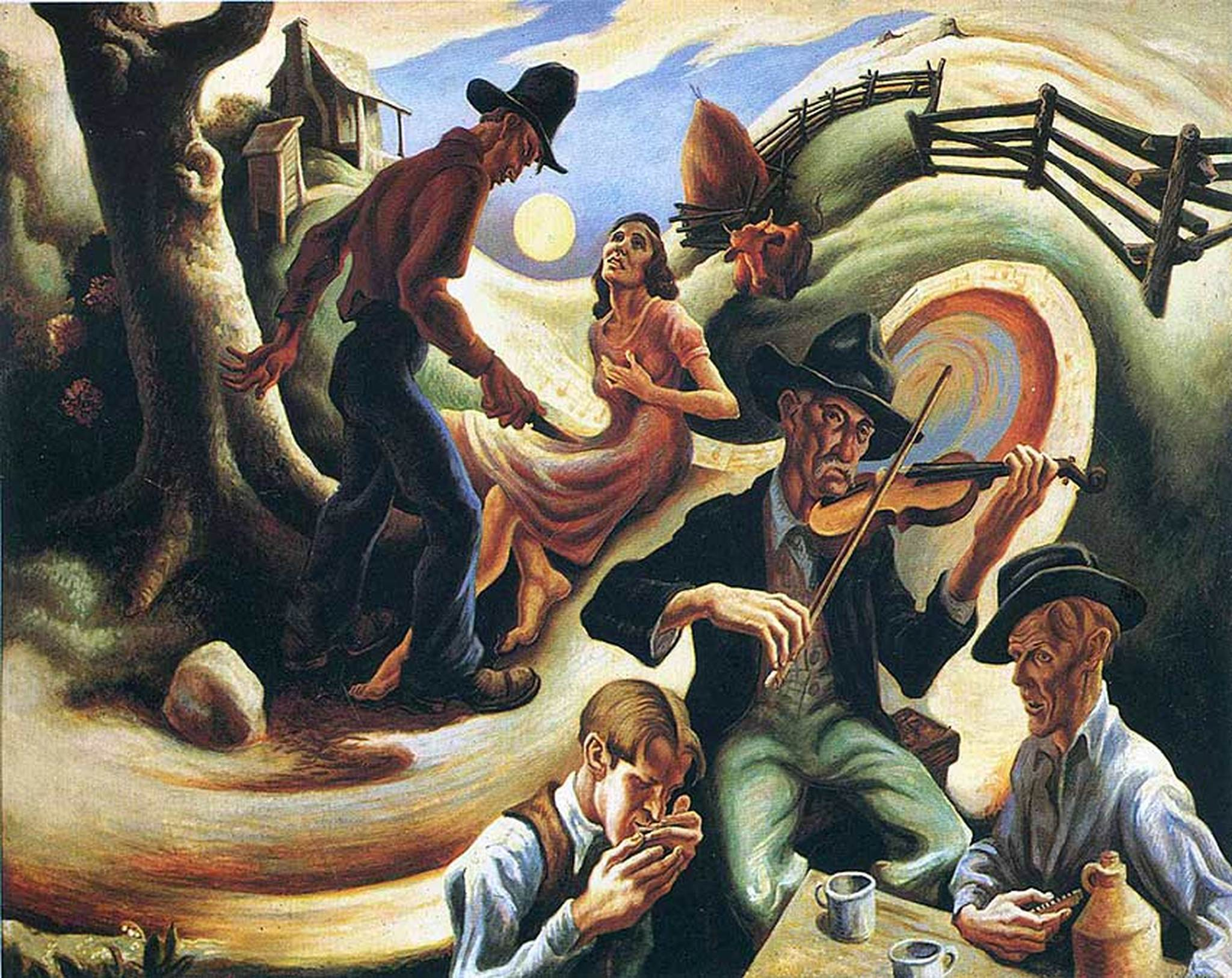 "Thomas Hart Benton's ""Ballad of the Jealous Lover"""