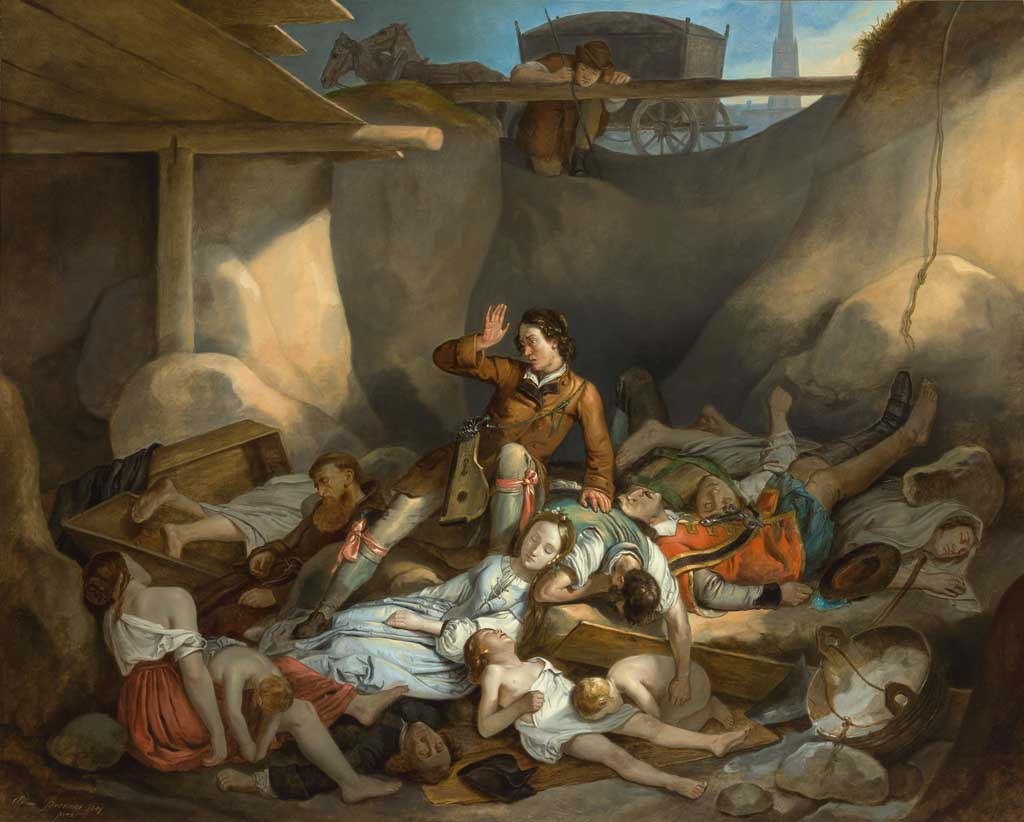 Augustin Awakes in the Plague Pit by Adam Brenner, 1841.