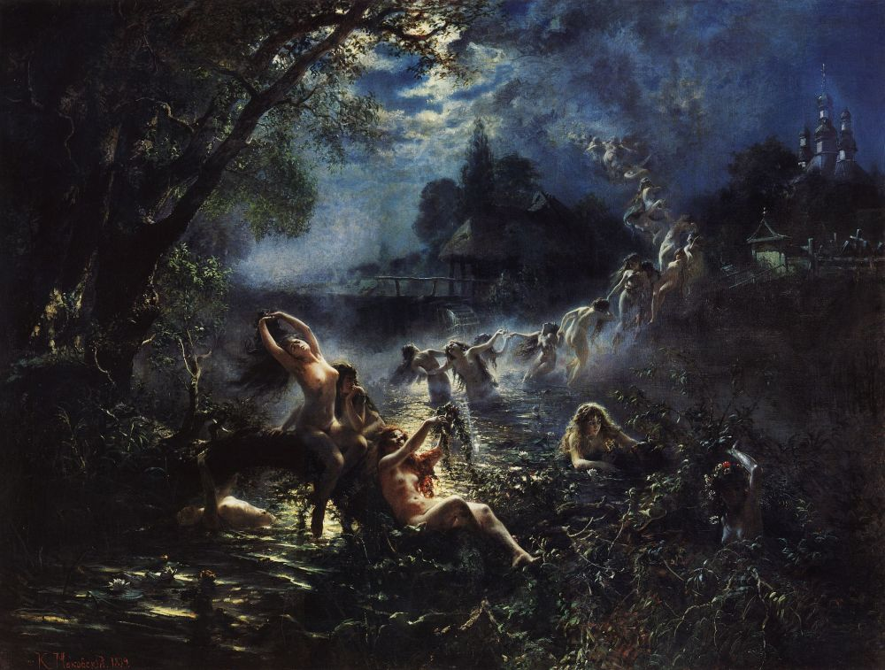 Rusalki, Konstantin Makovsky, 1879