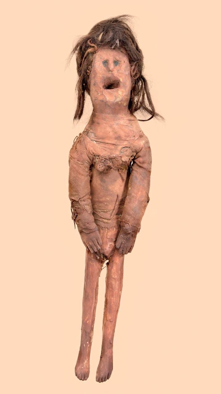 Sennentunschi puppet, from Rätischen Museum, Chur, Switzerland.