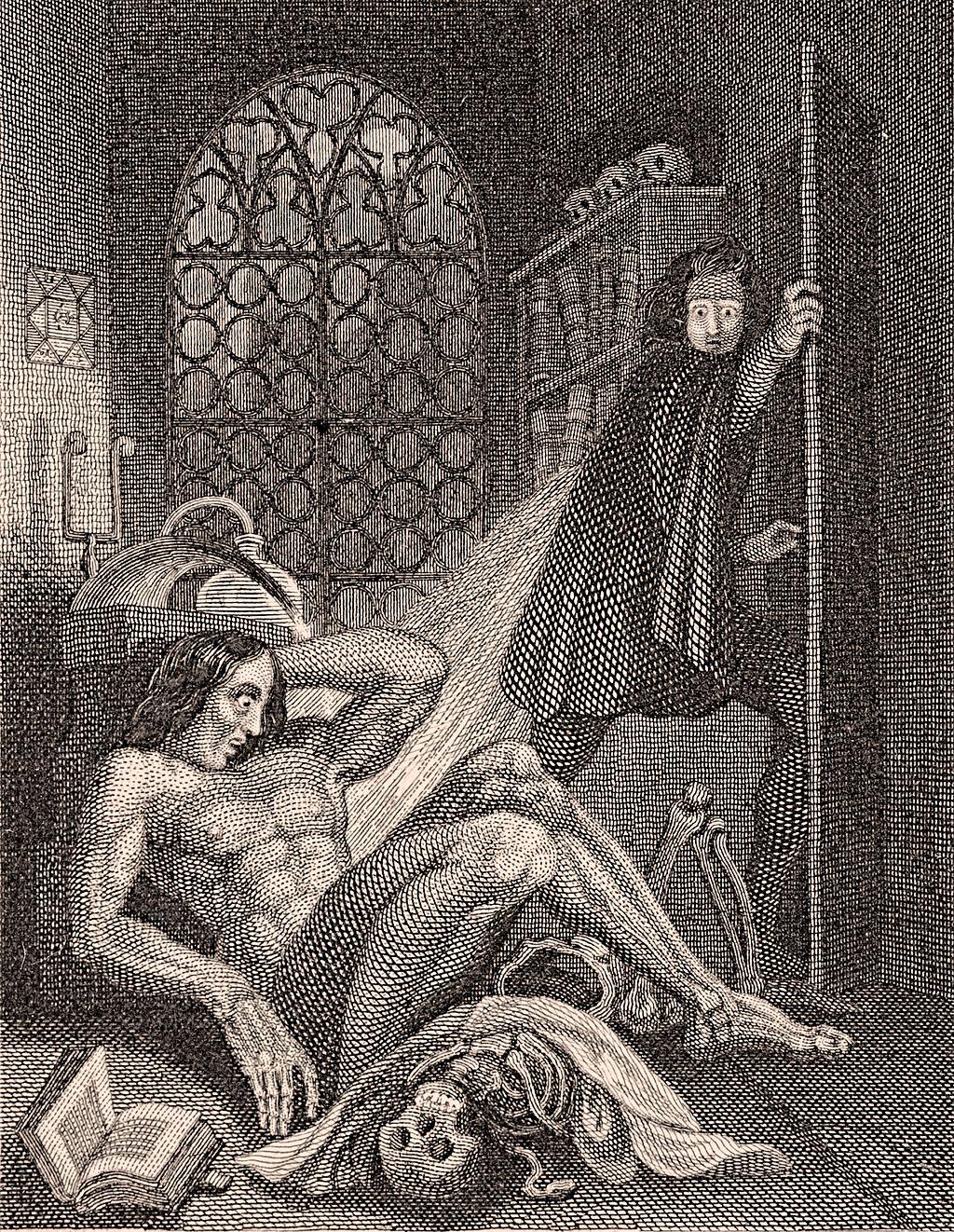 Frontispiece, Frankenstein, 1831