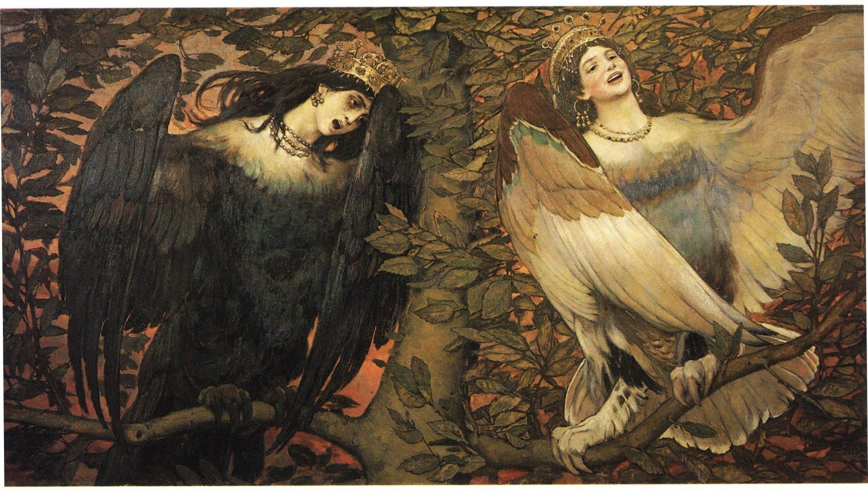 """Sirin and Alkonost. The Birds of Joy and Sorrow"" Viktor Vasnetsov, 1896"